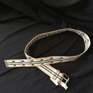 Web Belt w/ Double Grommet Buckle